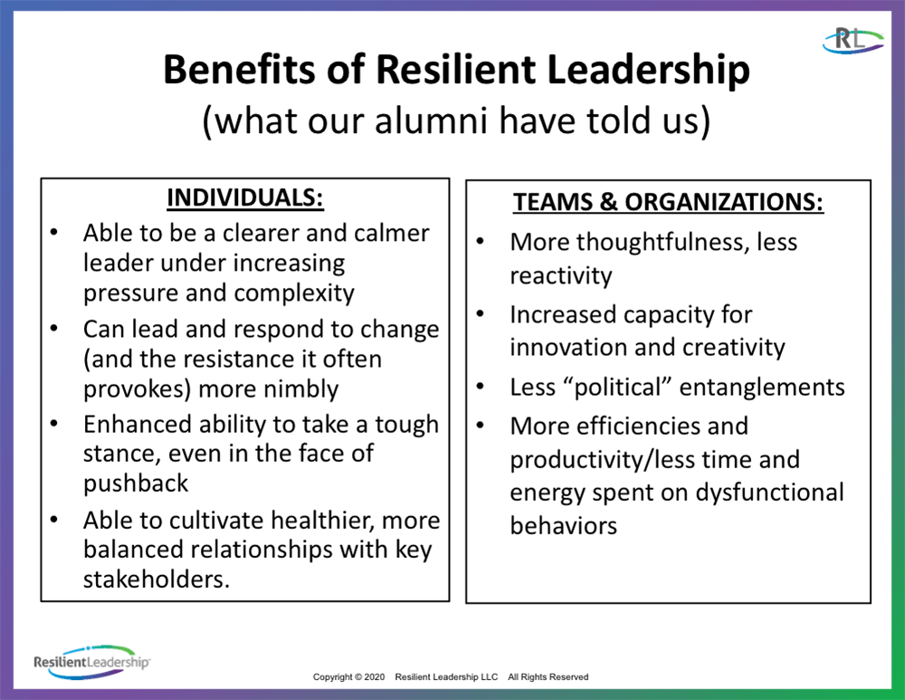 Benefits of Resilient Leadership